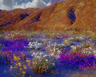 Jim Pavelle Fine Art Digital Art - Desert Flowers by Jim Pavelle