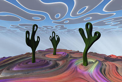 Digital Art - Desert Gathering by Frank Lee Hawkins Eastern Sierra Gallery