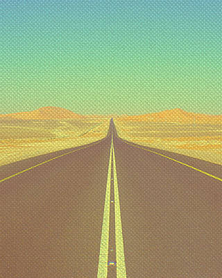 Mixed Media - Desert Highway by Michelle Dallocchio