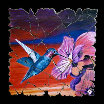 Bogdanoff Painting - Desert Hummingbird by Steve Bogdanoff