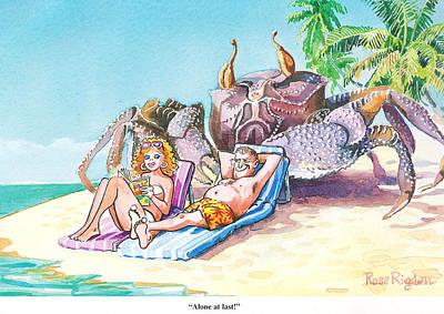 Desert Island Art Print by Rose Rigden