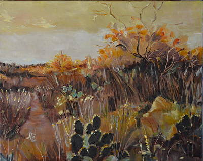 Painting - Desert Landscape by Julie Todd-Cundiff
