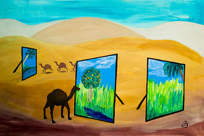 Painting - Desert Memories by Jutta B