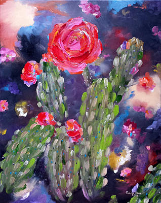 Painting - Desert Monsoon by Judith Rhue