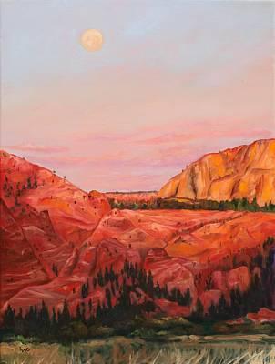 Desert Moon Original by Eve  Wheeler