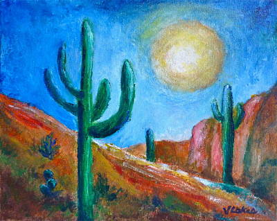 Painting - Desert Moon by Victoria Lakes