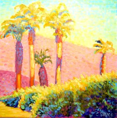Desert Morning Palms Art Print by Craig  Bruce