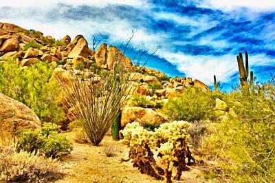 Scottsdale Digital Art - Desert Morning by Russ Harris
