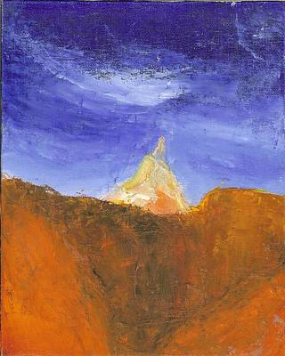 Painting - Desert Mountain Canyon by Joe Leahy