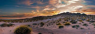 Photograph - Desert Mountain Sunset Panorama by Dave Dilli