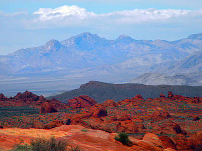 Photograph - Desert Mountain Vista by Frank Wilson