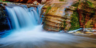 Waterfall Photograph - Desert Oasis by Chad Dutson