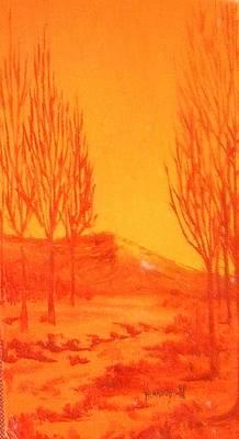 Desert Orange Original by Rebecca Lou Mudd