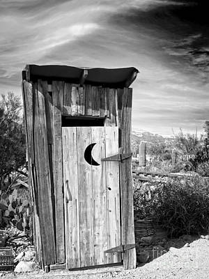 Photograph - Desert Outhouse Under Stormy Skies by Lee Craig
