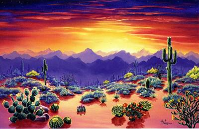 Mountain Painting - Desert Palette by Lori Salisbury