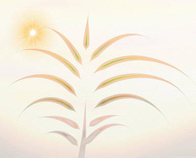 Desert Palm - Digital Abstract Art Print by Gina Lee Manley