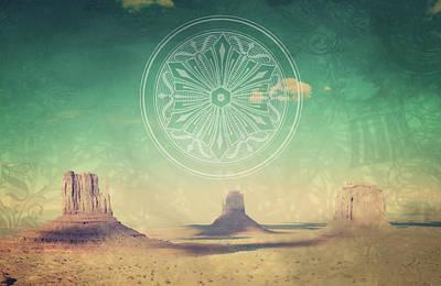 Mixed Media - Desert Paradise by Michelle Dallocchio