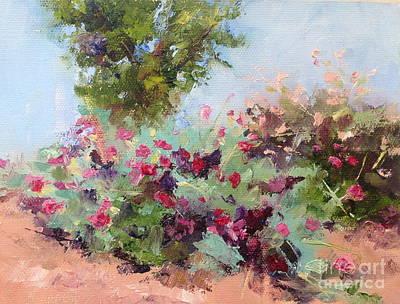 Grande Painting - Desert Plants In Bloom IIi by Carol Hopper