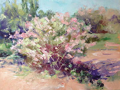 Grande Painting - Desert Plants In Bloom Iv by Carol Hopper