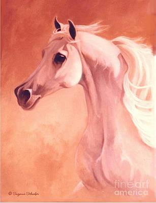 Desert Prince Arabian Stallion Art Print by Suzanne Schaefer