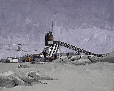 Back Road Painting - Desert Quarry by Steve Beaumont