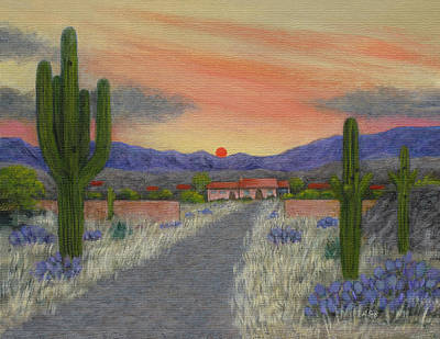 Scenic Vistas Painting - Desert Ranch by Gordon Beck