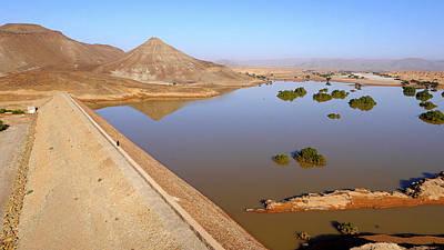Moroccan Photograph - Desert Reservoir by Thierry Berrod, Mona Lisa Production