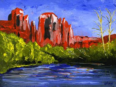 Painting - Desert River by Brett Winn