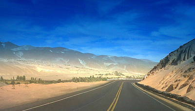 Photograph - Desert Road 1 by Lew Davis
