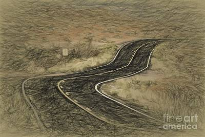 Photograph - Desert Road by Les Palenik