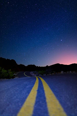Asphalt Photograph - Desert Road by Rick Berk