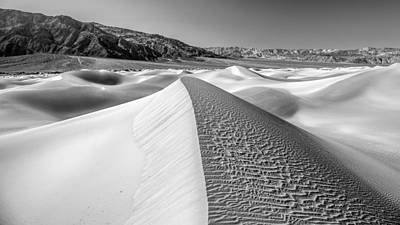 Photograph - Desert Sand Dunes No 1 Of 3 In Black And White. by Pierre Leclerc Photography