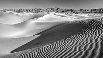 Photograph - Desert Sand Dunes No 3 Of 3 In Black And White by Pierre Leclerc Photography