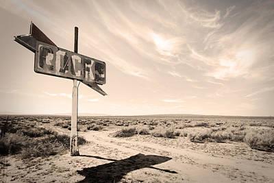 Desert Sign Art Print by Rick Rhay
