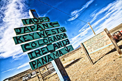 Photograph - Desert Signs by Shanna Gillette