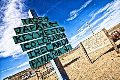 Desert Signs Art Print by Shanna Gillette