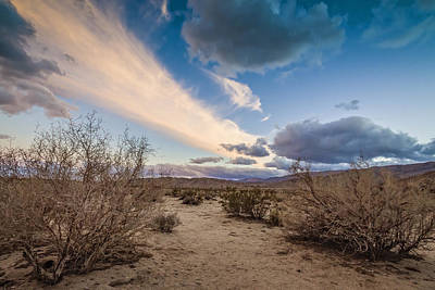 Photograph - Desert Sky Painting by Dave Hall