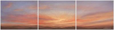Desert Sky Triptych Art Print