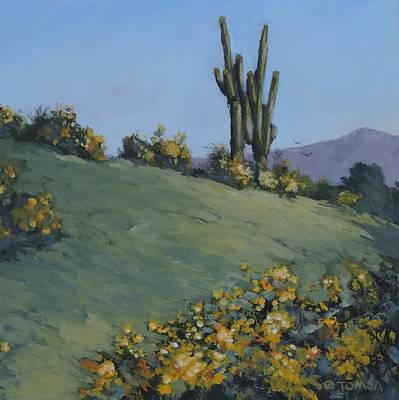 Painting - Desert Spring by Bill Tomsa