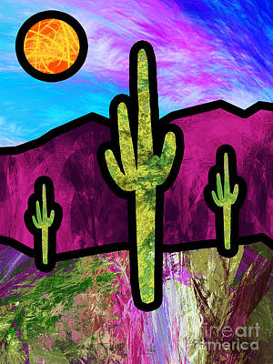 Painting - Desert Stained Glass by Methune Hively