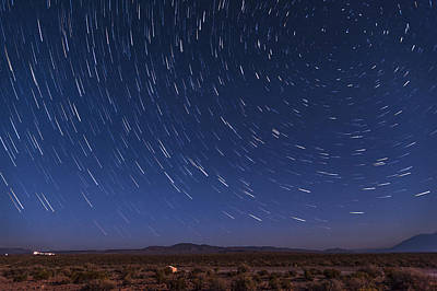Startrails Photograph - Desert Star Trails by Cat Connor