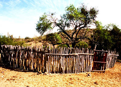 Photograph - Desert Sticks Livestock Corral by Robert  Rodvik