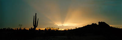 Etherial Photograph - Desert Sun Beams, Near Phoenix by Panoramic Images