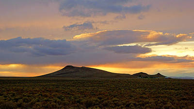 Photograph - Desert Sunset At Malheur Refuge by Daniel Woodrum