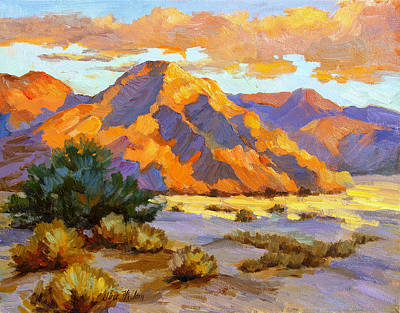 Desert Sunset Painting - Desert Sunset by Diane McClary