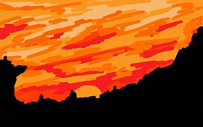 Desert Sunset Digital Art - Desert Sunset by Jera Sky