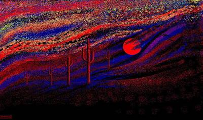 Desert Sunset Digital Art - Desert Sunset by Larry Lehman