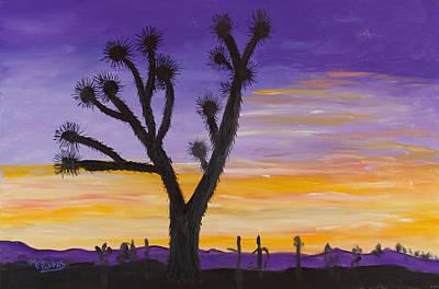 Desert Sunset Art Print by Margaret Pappas