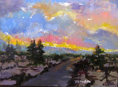 Painting - Desert Sunset by MaryAnne Ardito