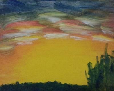 Painting - Desert Sunset by Steve Jorde